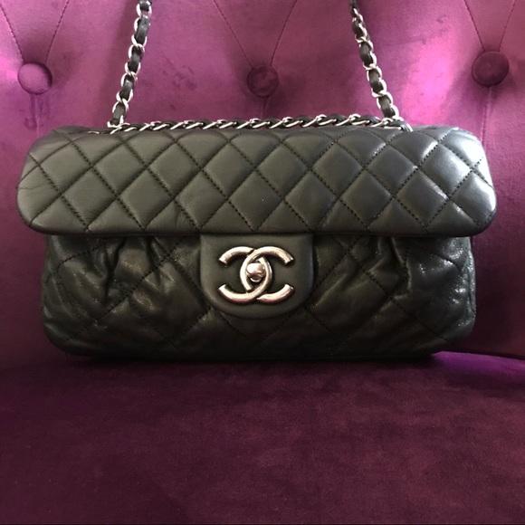 45e330084de9 CHANEL Bags | Classic Flap Ruching Black Bag | Poshmark